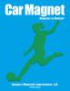 Soccer Player Female Kick Car Magnet in green