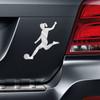 Soccer Player Female Kick Car Magnet on car