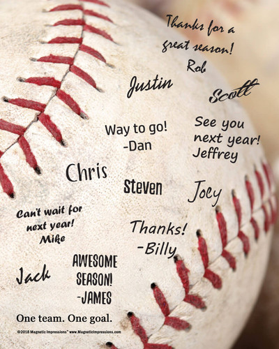 """Baseball Team Quote Picture for Signatures 8"""" x 10"""" Sport Poster Print - Signatures not included"""