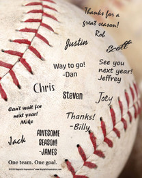 "Baseball Team Quote Picture for Signatures 8"" x 10"" Sport Poster Print - Signatures not included"
