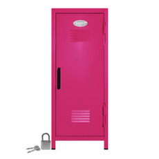 Kid's Mini Locker with Lock and Key in Hot Pink