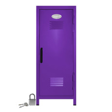Kid's Mini Locker with Lock and Key in Purple
