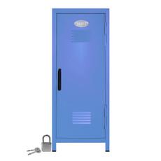 Kid's Mini Locker with Lock and Key in Pastel Blue