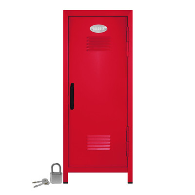 Kid's Mini Locker with Lock and Key in Red