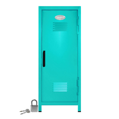 Kid's Mini Locker with Lock and Key in Teal