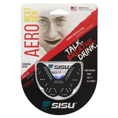 SISU NextGen Aero Guard 1.6mm Mouthguard in Charcoal Black