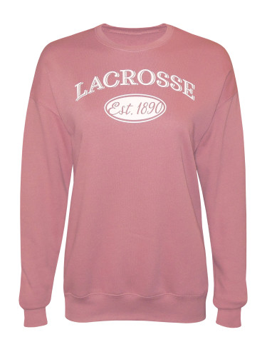 Women's Lacrosse Established 1890 Fleece Sweatshirt in Mauve