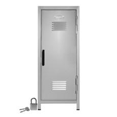 """Kid's Mini Locker with Lock and Key Silver - 10.75"""" Tall"""