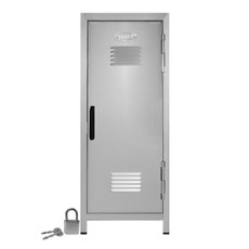 "Kid's Mini Locker with Lock and Key Silver - 10.75"" Tall"