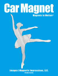 Ballet Dancer Car Magnet in Chrome