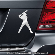 Baseball Batter Car Magnet in Chrome