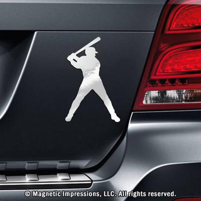 Baseball Batter Car Magnet in Chrome