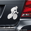 Cycling Car Magnet in Chrome