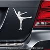 Figure Skater Spiral Car Magnet