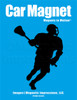 Lacrosse Male Player Car Magnet in Black