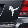 Martial Artist Female Car Magnet in Chrome