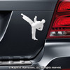 Martial Artist Male Car Magnet in Chrome
