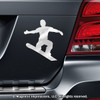 Snowboarder Male Car Magnet in Chrome