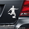Soccer Player Male Car Magnet in Chrome