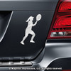 Tennis Player Women's Car Magnet in Chrome