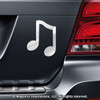 Music Note Car Magnet in Chrome