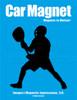 Lacrosse Goalie Male Car Magnet in Black