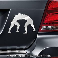 Wrestler Car Magnet in Chrome
