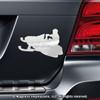 Snowmobiler Car Magnet in Chrome