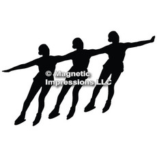 Synchronized Skaters Car Magnet in Black