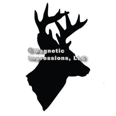 Deer Head Hunting Car Magnet in Black