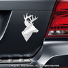 Deer Head Hunting Car Magnet in Chrome