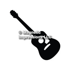 Acoustic Guitar Car Magnet in Black