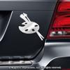 Artist Palette Car Magnet in Chrome