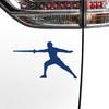 Fencer Male Car Magnet in Blue