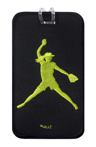 Softball Pitcher Luggage Tag front