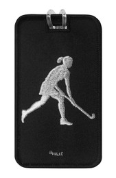 Field Hockey Embroidered Luggage Tag front