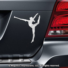Twirler Car Magnet in Chrome