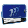 Synchronized Skaters Luggage Tag front and back