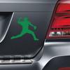 Baseball Pitcher Car Magnet in green