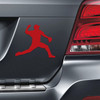 Baseball Pitcher Car Magnet in red
