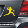 Baseball Pitcher Car Magnet in yellow