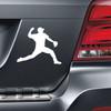 Baseball Pitcher Car Magnet in white