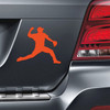 Baseball Pitcher Car Magnet in orange