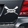 Crew Rowing Car Magnet in Chrome