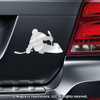 Ice Hockey Player Sled Car Magnet in Chrome