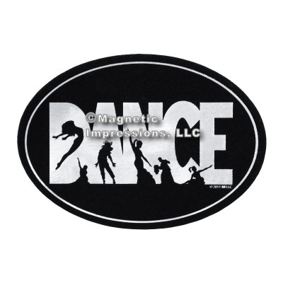 Dance Word Car Magnet
