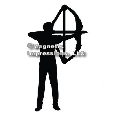 Archery Compound Bow Men's Car Magnet in Black