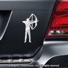 Archery Compound Bow Men's Car Magnet in Chrome
