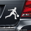 Bowler Male Car Magnet in Chrome
