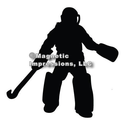 Field Hockey Goalie Car Magnet